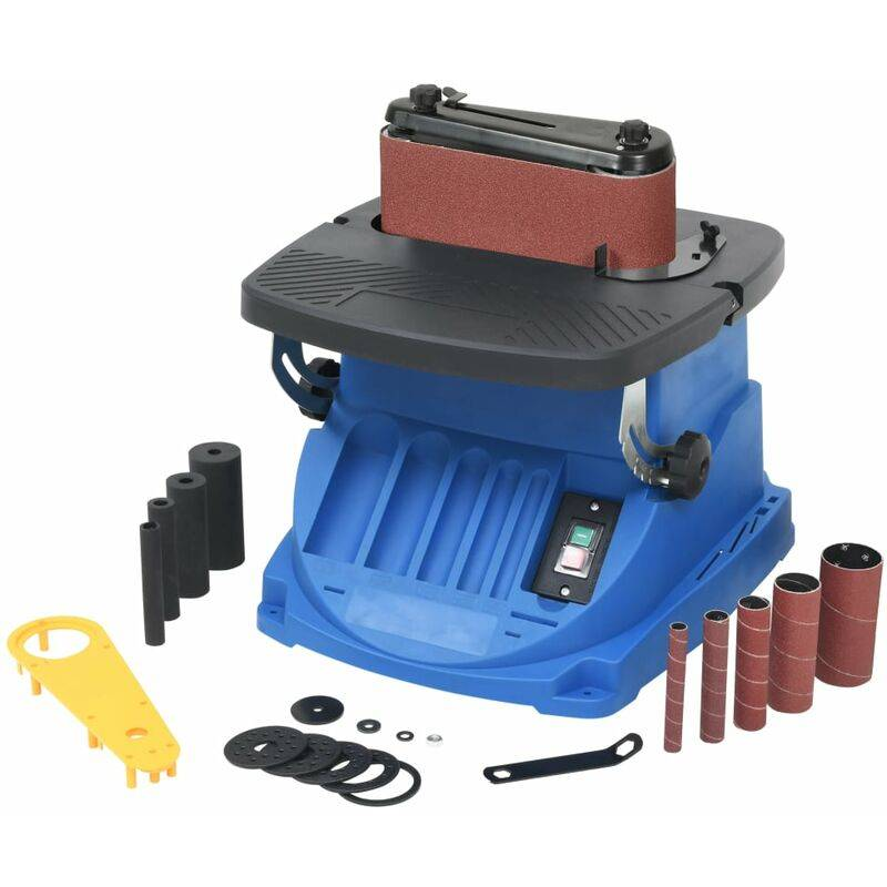 Vidaxl - Ponceuse à bande et à axe oscillant 450 W Bleu