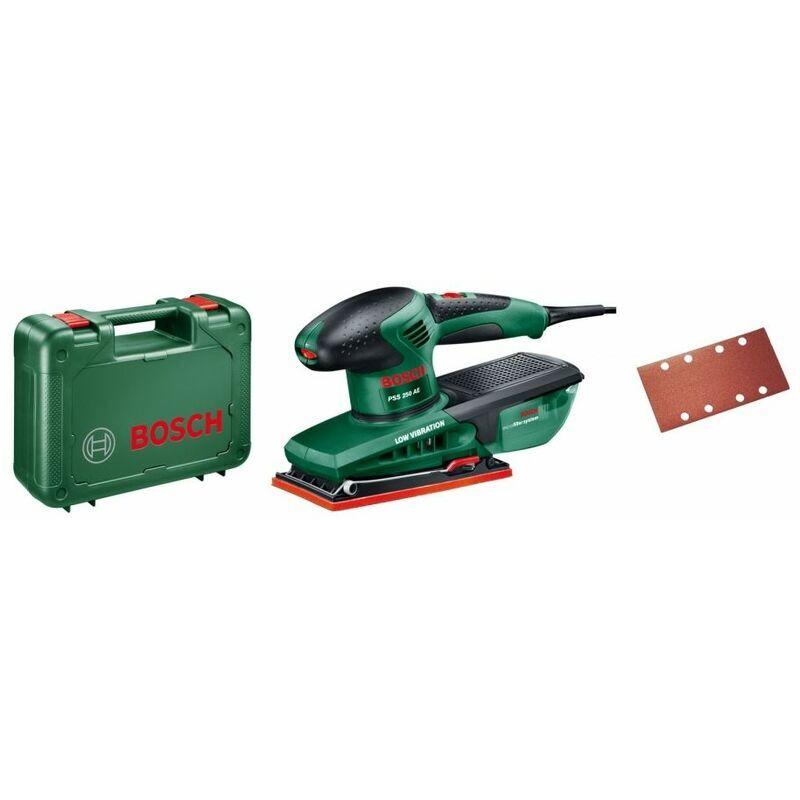 BOSCH Ponceuse vibrante 250W Bosch PSS250AE Surface de ponçage 92 x 182 mm Abrasifs