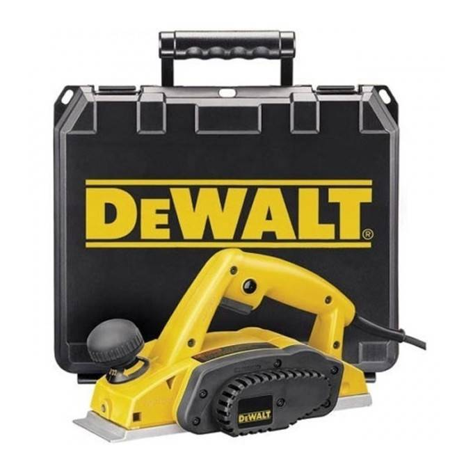 DEWALT DW680K-QS. Rabot 600Watts 2.5mm Dewalt en coffret 389.38
