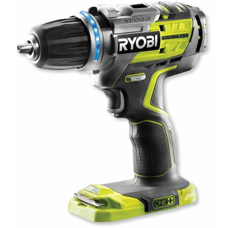 Ryobi Perceuse visseuse sans fil Brushless R18DDBL-0 One+ sans batterie ni