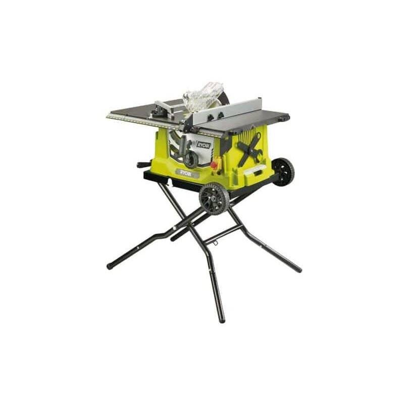 RYOBI Scie sur table électrique RYOBI 1800W 254mm - piètement rétractable - roues