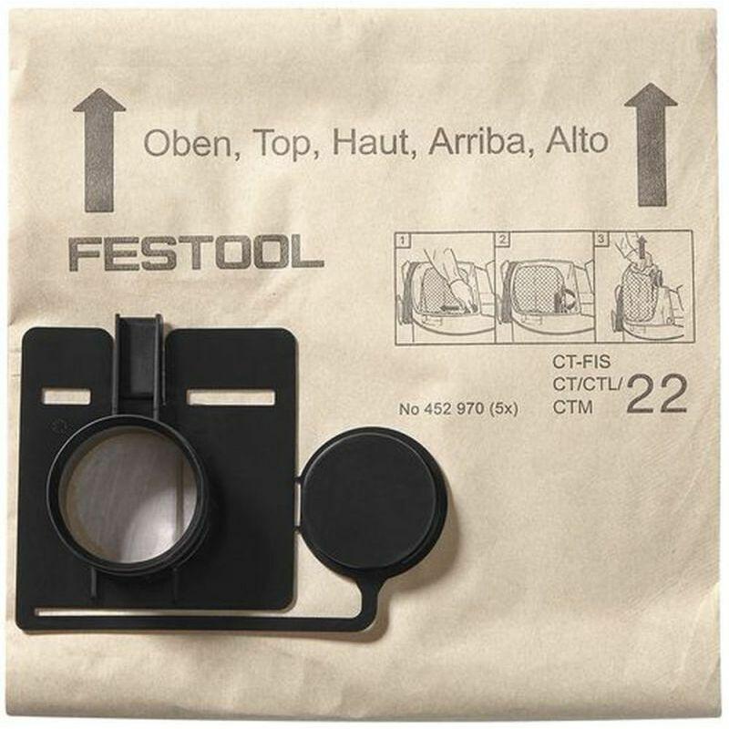 Festoolverbrauchsmaterial4 - Sac filtre FIS-CT/CTL/CTM 22 /20 FESTOOL 494631