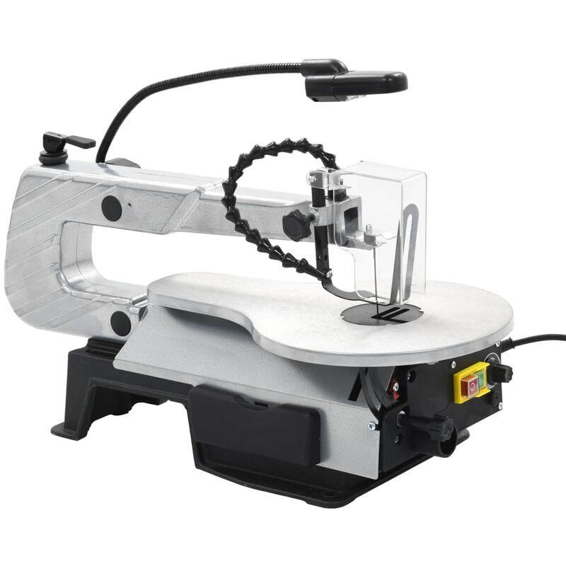 vidaXL Scie à chantourner à éclairage Acier Profondeur de coupe 406 mm