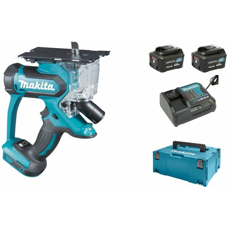 Makita SD100DSMJ Scie à plaque de plâtre à batteries 10.8V Li-ion (2x batterie