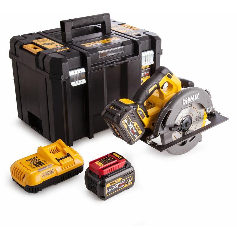 DeWalt DCS576T2 Scie circulaire à batteries 18V/54V Li-Ion XR FlexVolt set (2x