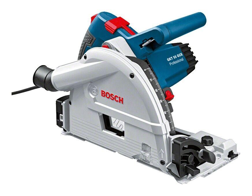 Bosch GKT 55 GCE Scie circulaire Professional et Guide de scie FSN 1600 L-Boxx