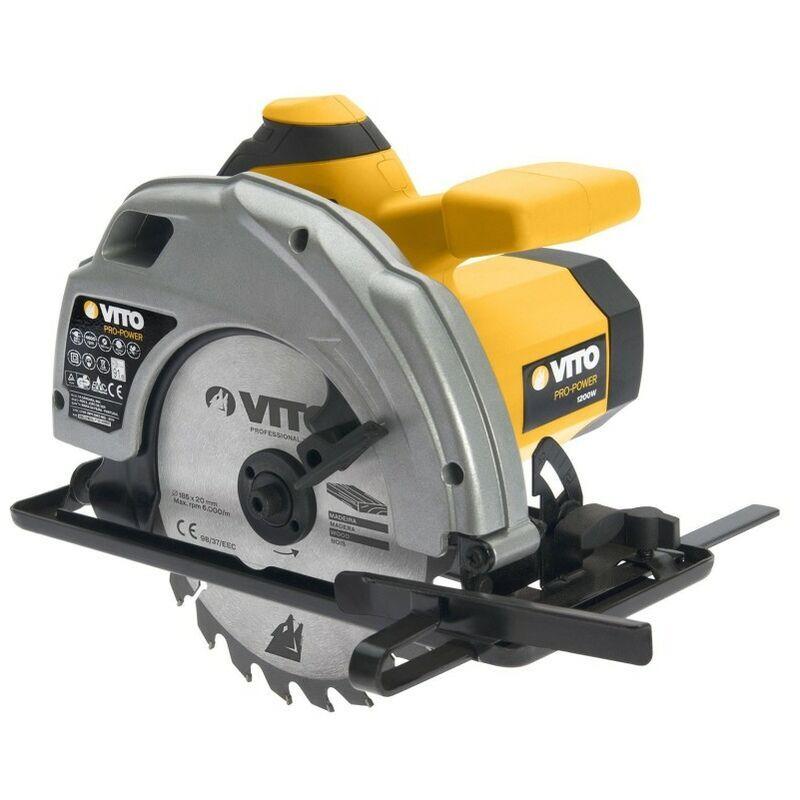 Vito Pro-power - Scie circulaire 1200W VITOPOWER - 4600 Tr/min -Disque 185 mm