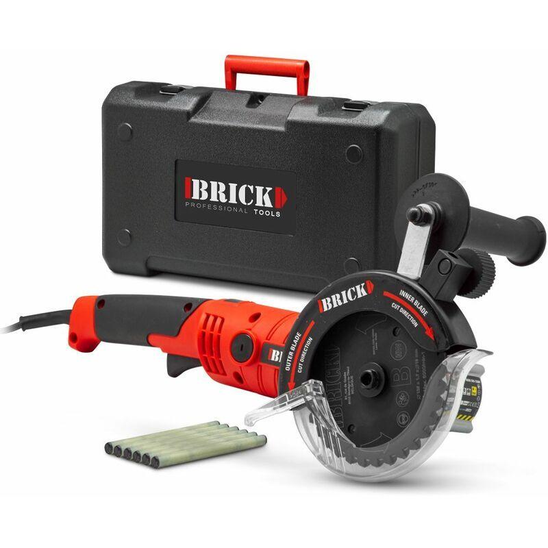 BRICK Scie circulaire 1200W double lame multimatériaux