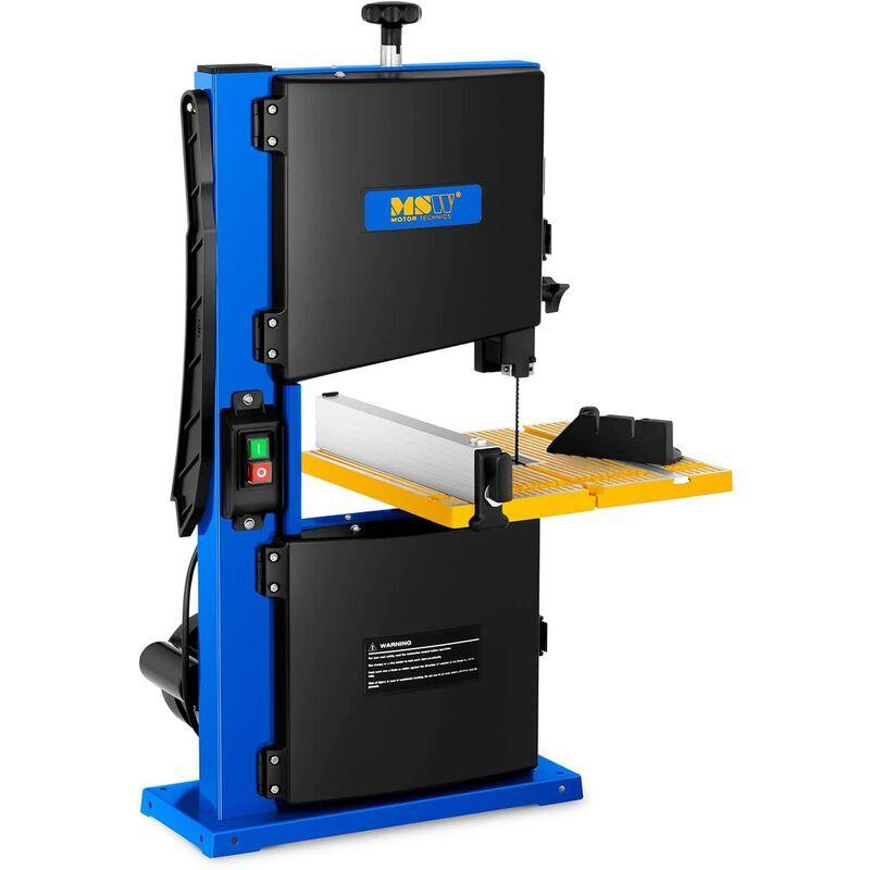 MSW Scie À Ruban Électrique Motorisée Bois Machine Outil 350W Table Inclinable Biais