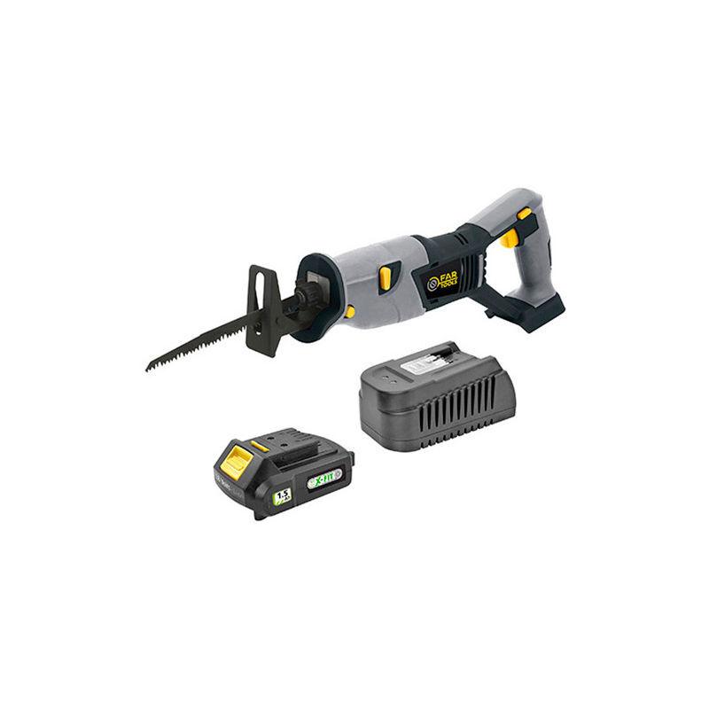 FARTOOLS Scie sabre sans fil KIT XF SAW2 - 18 V 1,5 Ah avec chargeur