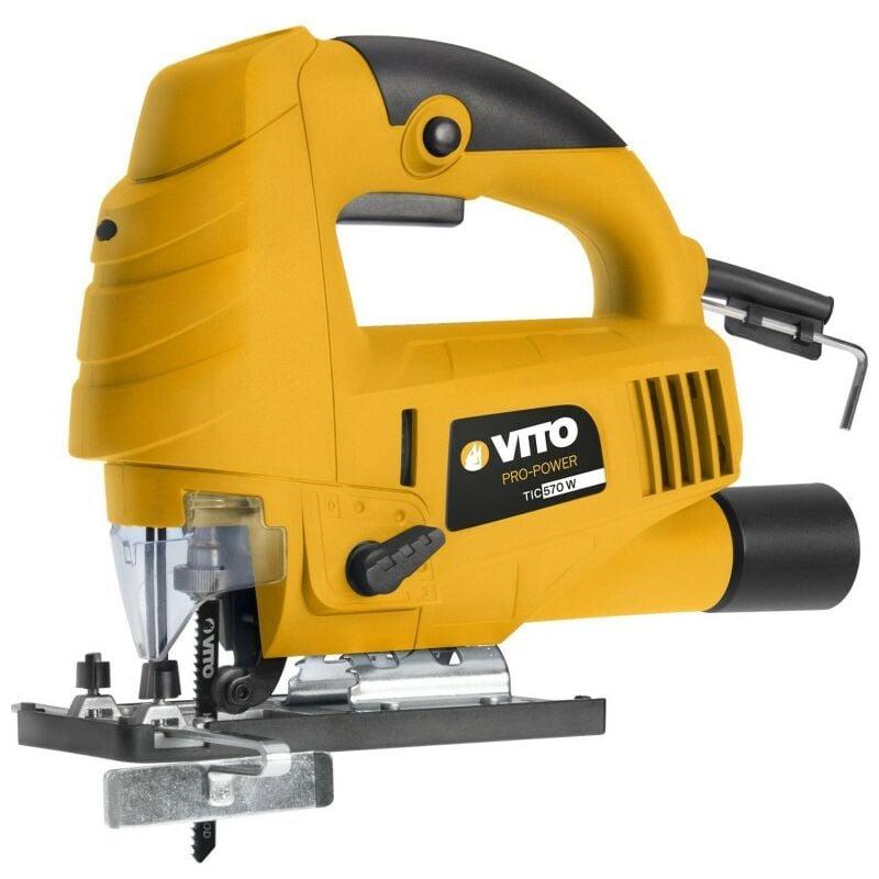 VITO PRO-POWER Scie sauteuse VITO 9 vitesses 570w protection lame 3000tr/min rotation 45°