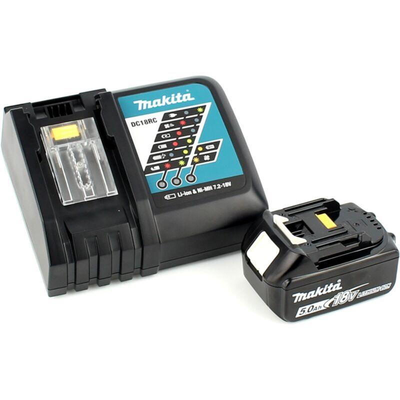 Makita DJV 181 RT1J Scie sauteuse pendulaire sans fil 18V Brushless + 1x