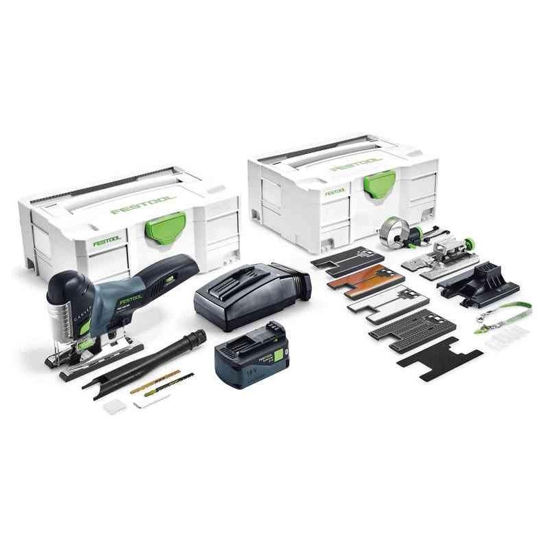 FESTOOL Scie sauteuse FESTOOL CARVEX PSC 420 Li 18 SET - Batteries 18V 5.2 Ah, chargeur