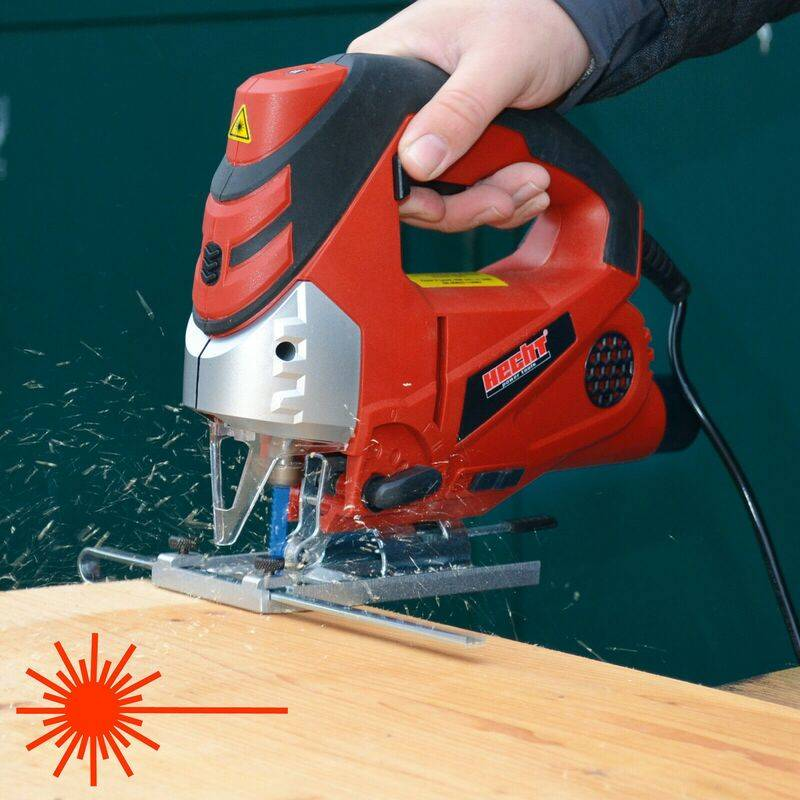 HECHT jardin 1569 Scie sauteuse pendulaire professionnelle 810 W LED Luminaire et