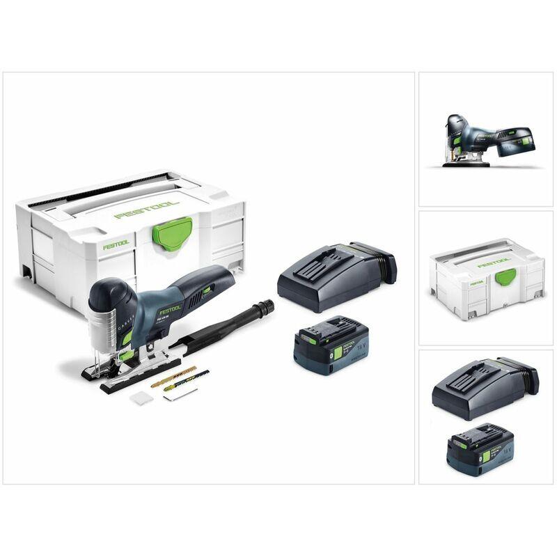 FESTOOL 18 V Festool PSC 420 Li 5,2 EBI-Plus CARVEX Scie sauteuse sans fil 18 V + Systainer