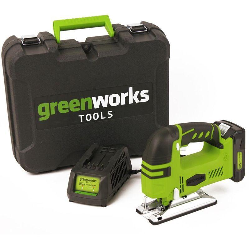 GREENWORKS Scie Sauteuse Sans Fil Greenworks 24v Avec Batterie Et Chargeur