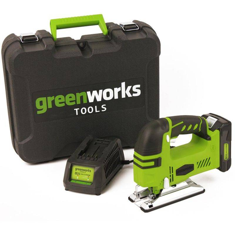 GREENWORKS Scie Sauteuse Sans Fil 24v Avec Batterie Et Chargeur - Greenworks
