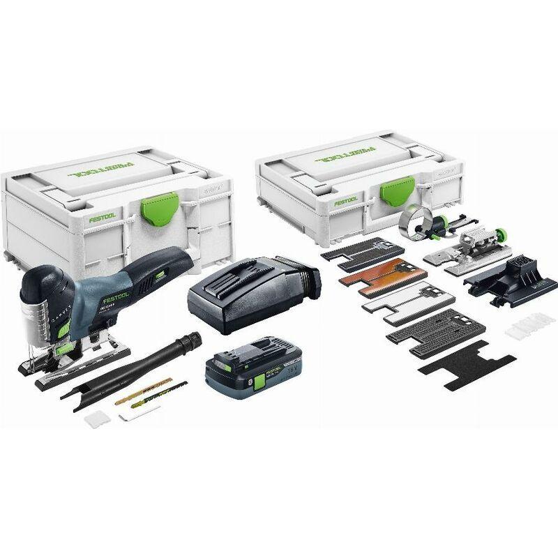 FESTOOL Scie sauteuse sans fil PSC 420 HPC EBI-Set CARVEX - Batterie 4Ah + chargeur