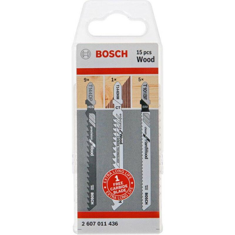 FP - Set lame de scie sabre bois 14 + 1 unités Bosch