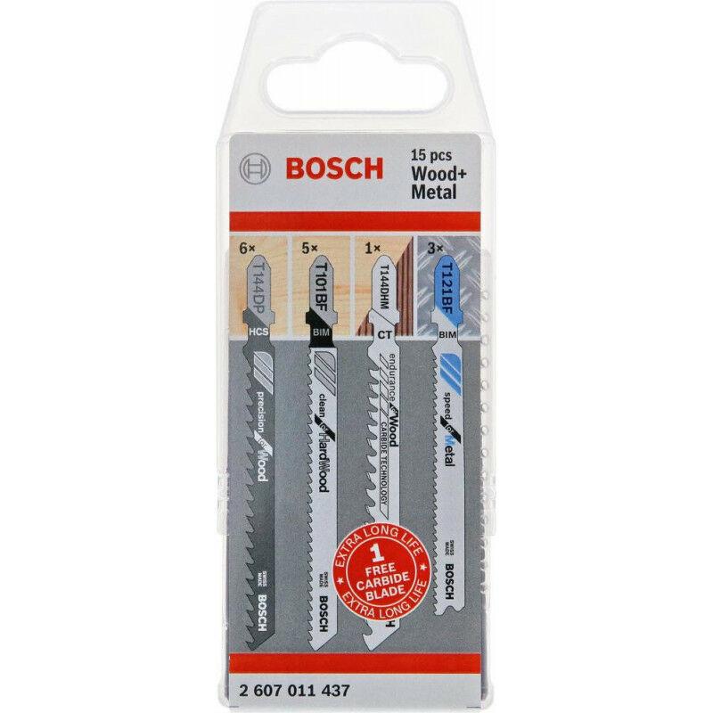 FP - Set lame de scie sabre bois Métal 14 + 1 unités Bosch