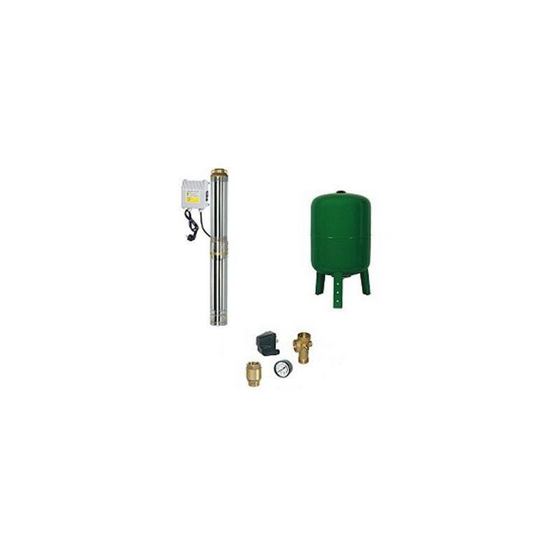 RIBIMEX Surpresseur en Kit Pompe Immergée 750 W - 10 Turbines Réservoir vertical 100 L