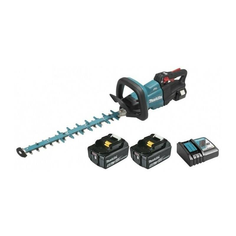 MAKITA Taille-haie 18V 50cm DUH502 MAKITA (2 batteries 18v 5ah + 1 chargeur rapide)