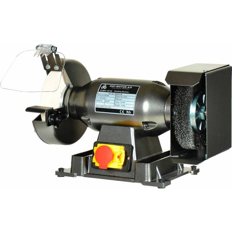 KEF Touret à meuler avec brosse Ø200mm 400V 50Hz KEF Slibex