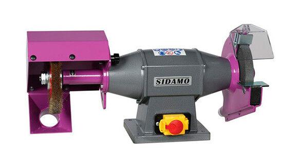 SIDAMO Touret meule - brosse TE201B D. 200 mm - 230 V 750 W - 20113068 - Sidamo