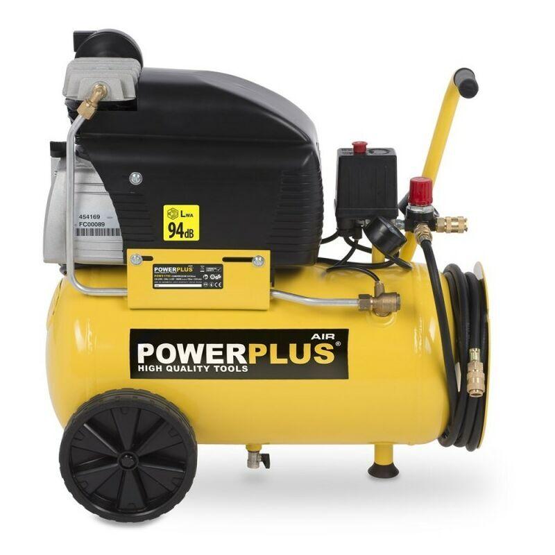 Powerplus - Compresseur 1800W 24 Litres Lubrifié