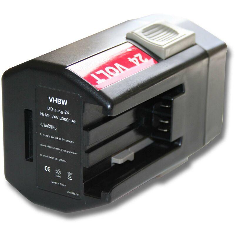 vhbw Batterie 3300mAh (24V) pour outil AEG Milwaukee BXL24, BXS24, Mini Relay