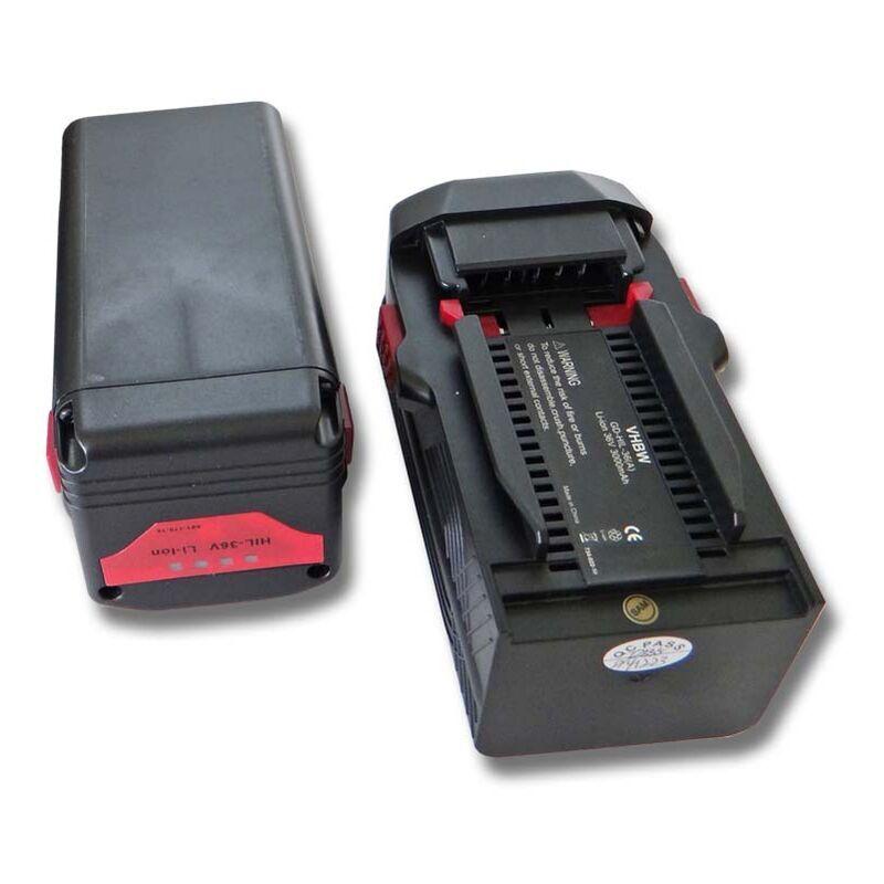 VHBW Lot de 2 batteries 3000mAh (36V) pour outils Hilti TE6A, TE 6A, TE7A Remplace: