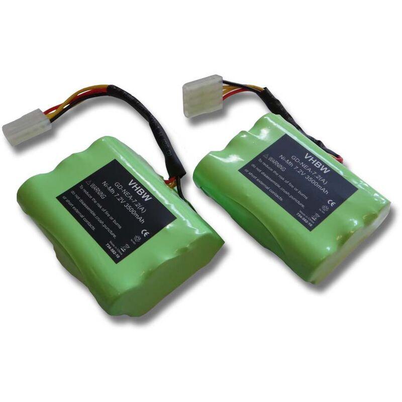 vhbw lot économique 2x batterie Ni-MH 3500mAh (7.2V) compatible avec outils