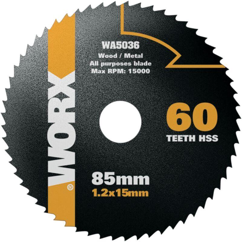 WORX Lame pour scie circulaire Worx 'WA5036' 85 mm