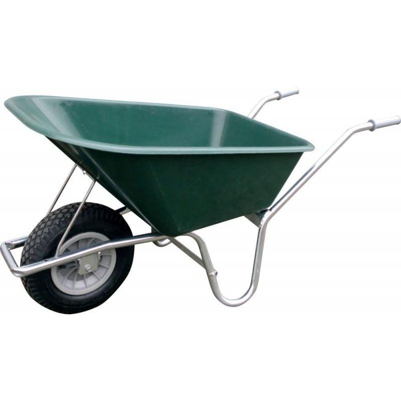 NECO Brouette 100 Ltr. vert foncé avec roue gonflable
