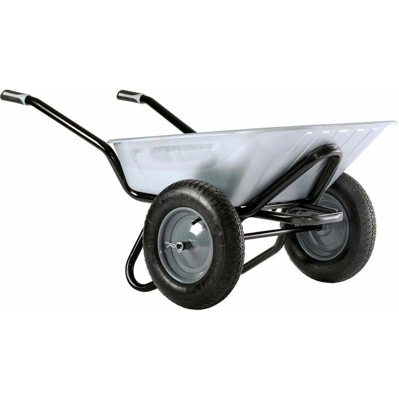 DEWALT Brouette Aktiv Excellium 100 twin galva roues gonflées