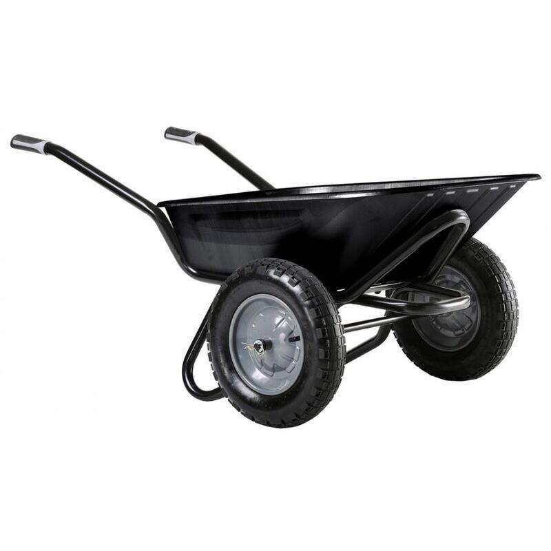 HAEMMERLIN Brouette Aktiv Excellium 100 L Twin peinte roue gonflée