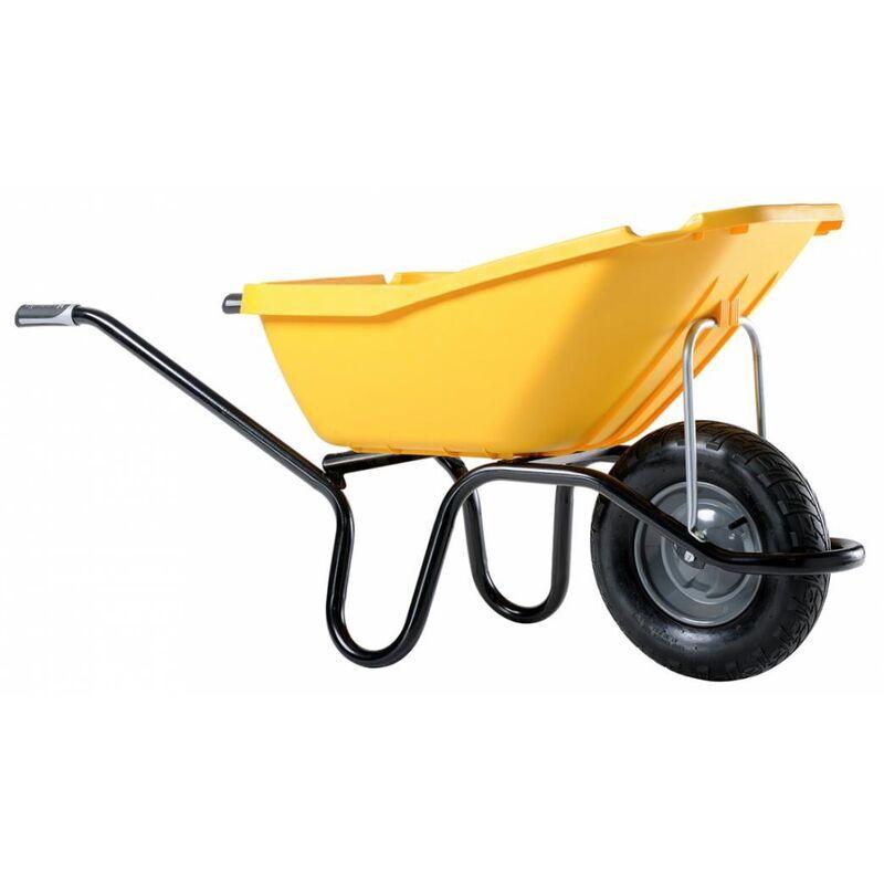HAEMMERLIN Brouette Pick Up 110 jaune roue gonflée