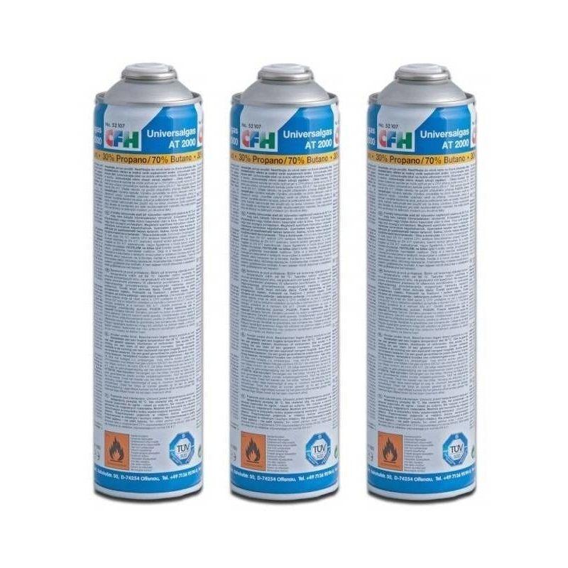 CFH 3 x Cartouche de gaz universelle pour désherbeur à gaz