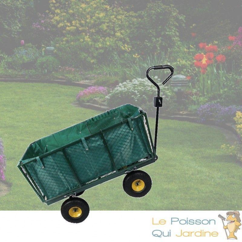 LE POISSON QUI JARDINE Chariot à Main 550 kg Pour Le Jardin Ou Autres Transports