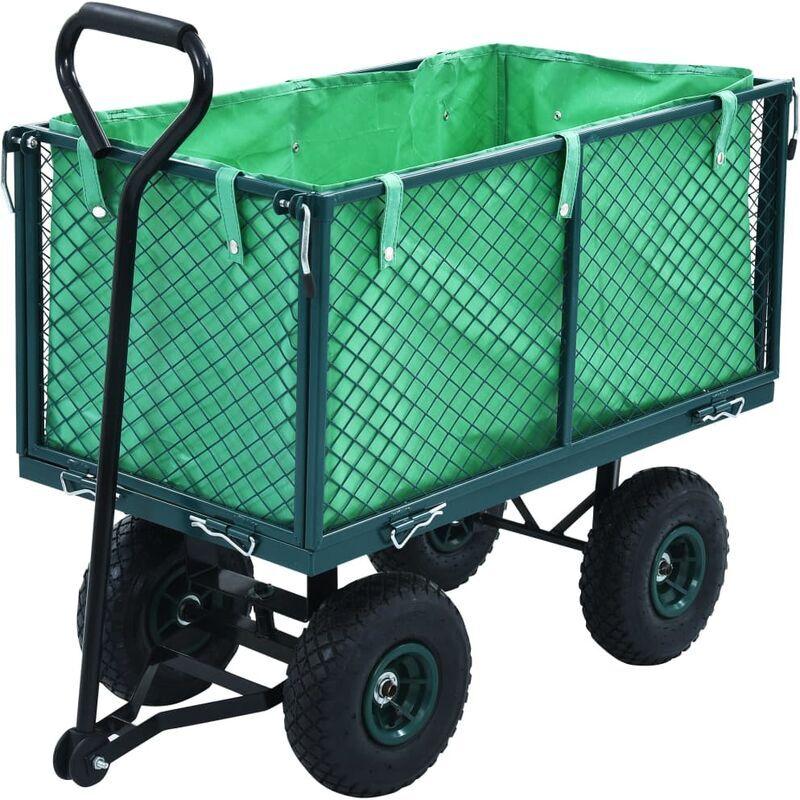 ASUPERMALL Chariot a main de jardin Vert 350 kg