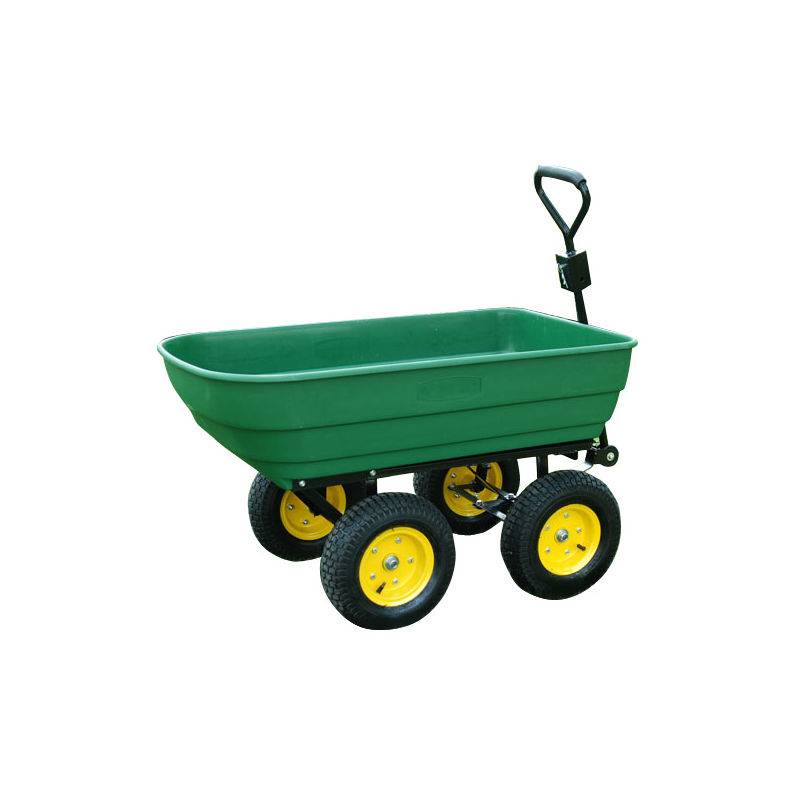 HOMCOM Chariot de jardin a main garden cart truck cuve basculante max. 250 Kg