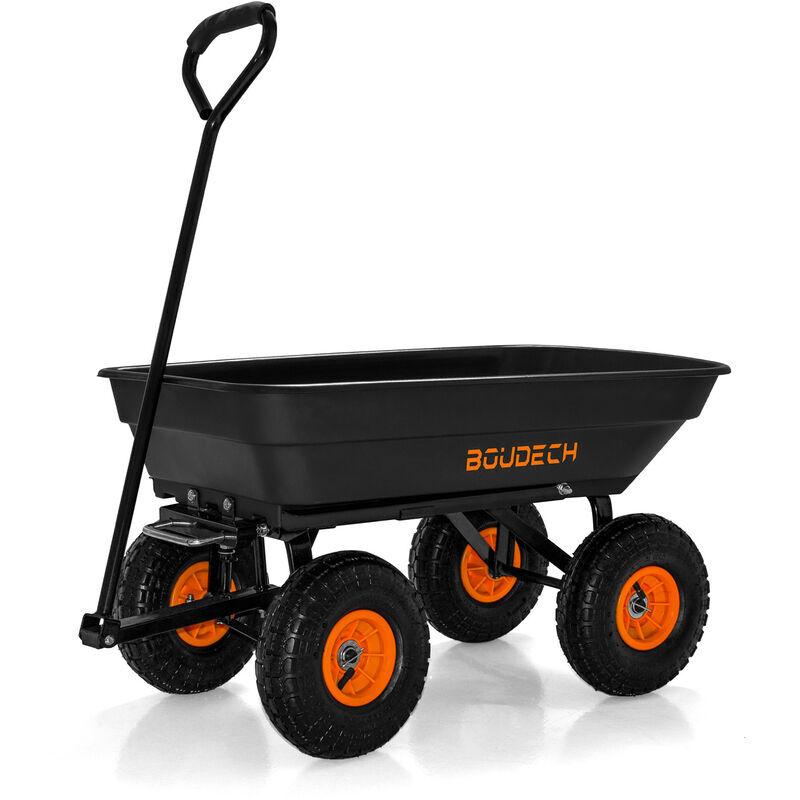 Boudech Chariot de jardin à main pour outils, basculement max. 250 kg
