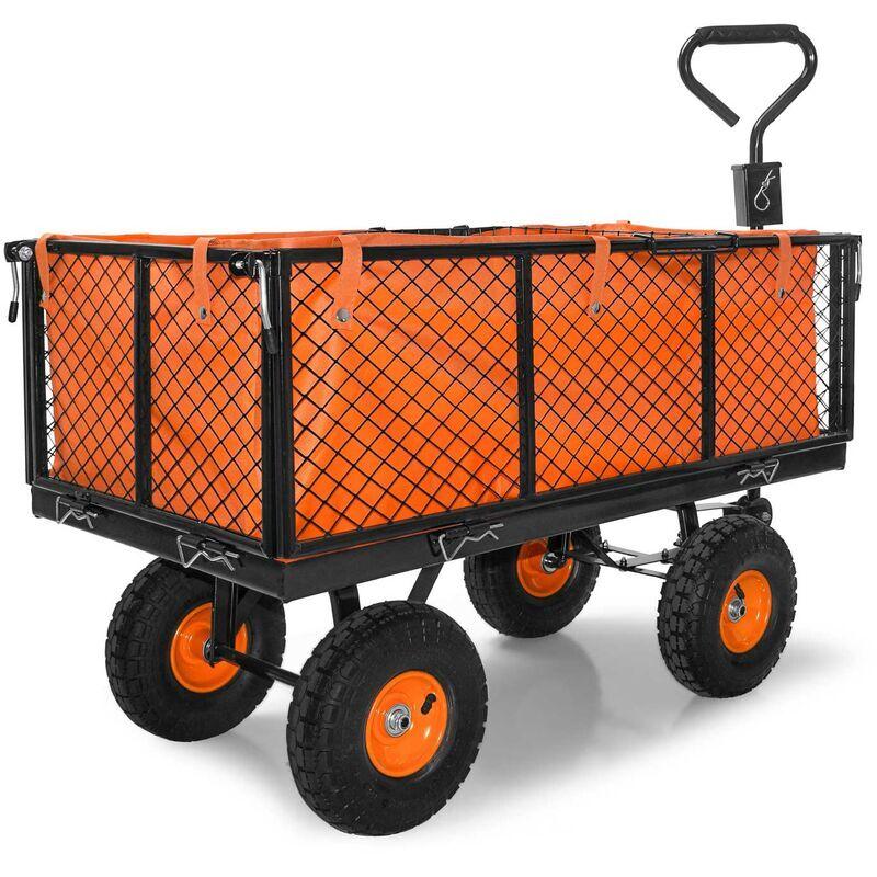 Boudech Chariot à main pour outils de jardin en fer avec une charge max. de 550kg avec