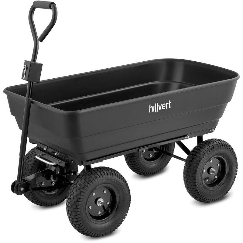 Hillvert - Chariot De Transport Jardin À Main Remorque Inclinable Basculant 350