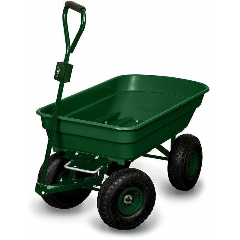 OSE - Chariot de jardin 4 roues - 52 litres capacité 120 kg