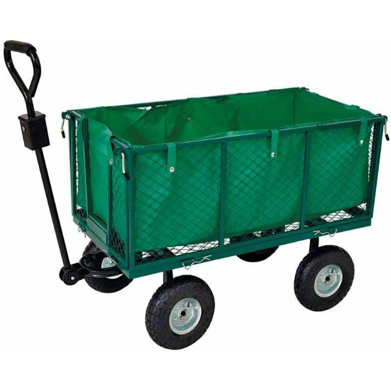 WERKAPRO Chariot remorque de jardin grillagé - Werkapro