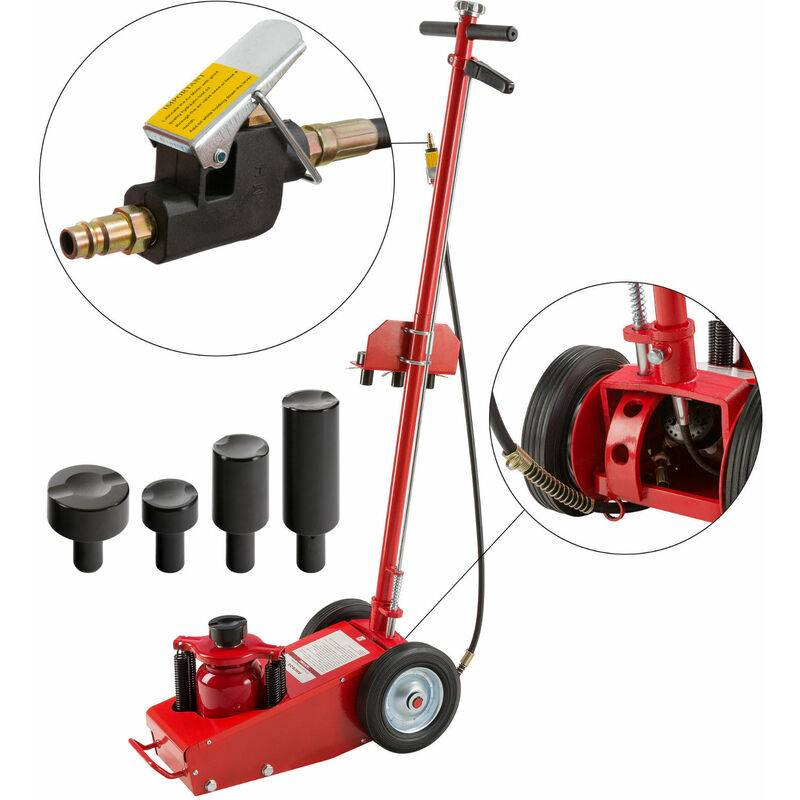 AREBOS Cric Hydraulique Cric Jack Professionnel Cric Hydraulique Roulant Cric Rouleur