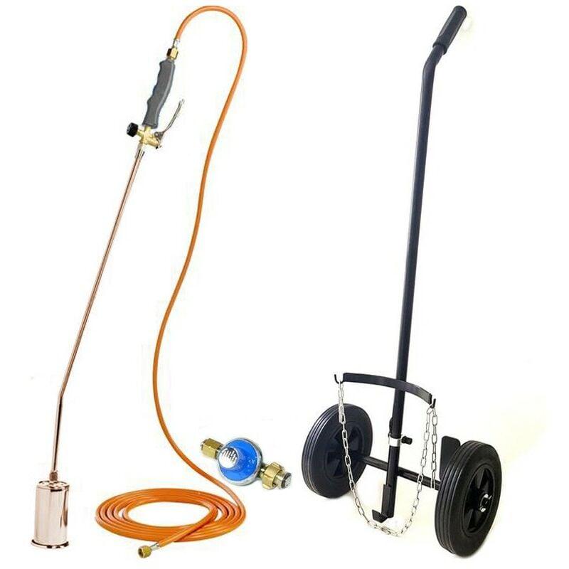 KEMPER Desherbeur pro KEMPER tuyau 5 m bruleur 60 mm Allume gaz + détendeur propane