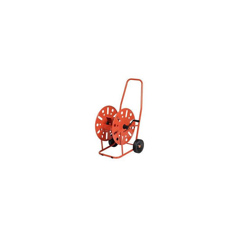 Lem Select - Dévidoirs acier 2 roues pour tuyau d'arrosage 19mm / 90M max.
