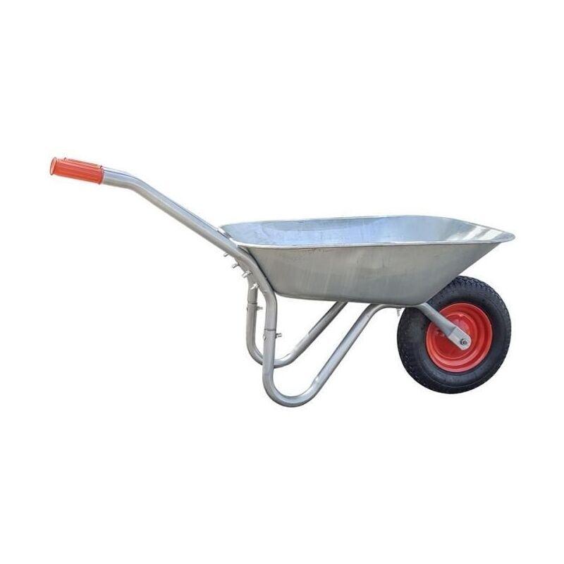 Galico Brouette Practo Garden Capacité : 85 L - Charge Max : 100 Kg - Roue